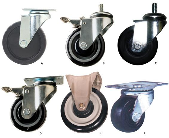 LIGHT-DUTY CASTERS